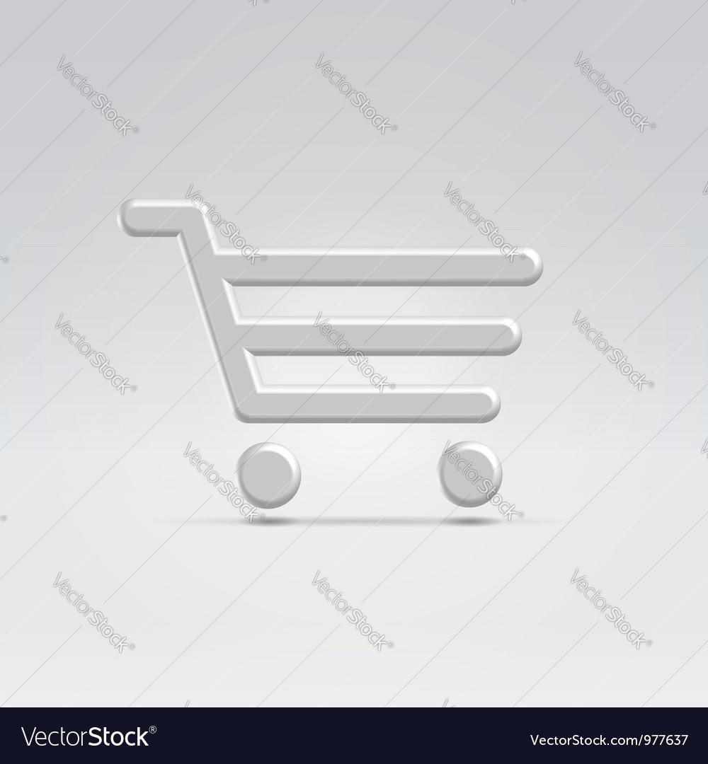 Silver shopping icon vector image