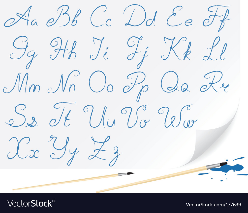 Drawing alphabet vector image