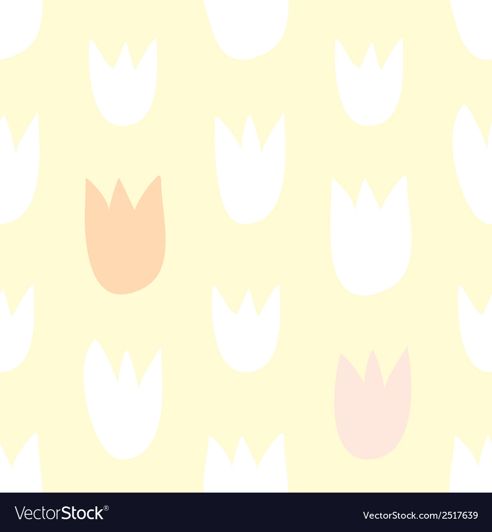 Tile floral pattern with hand drawn tulip flowers vector image