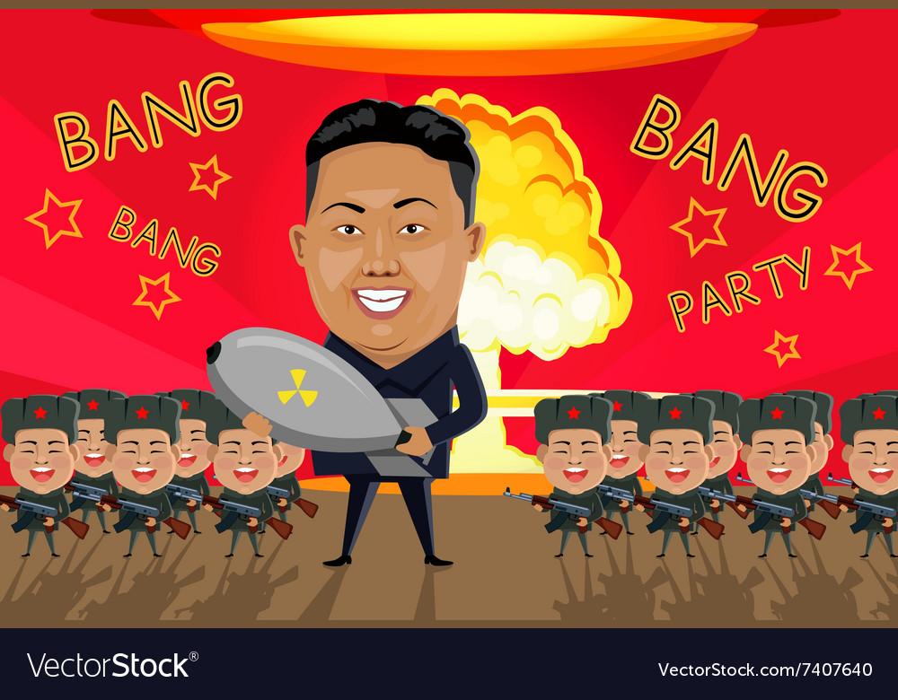 Bomb on North Korea vector image