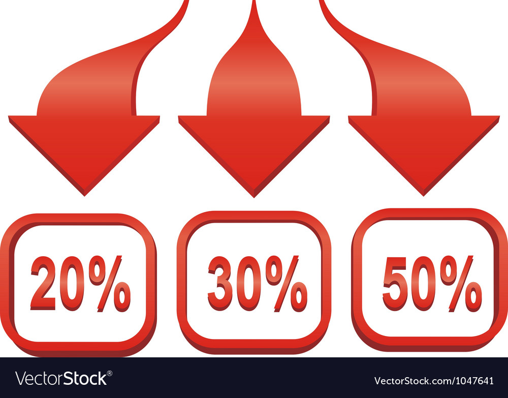 Arrow sale sticker vector image