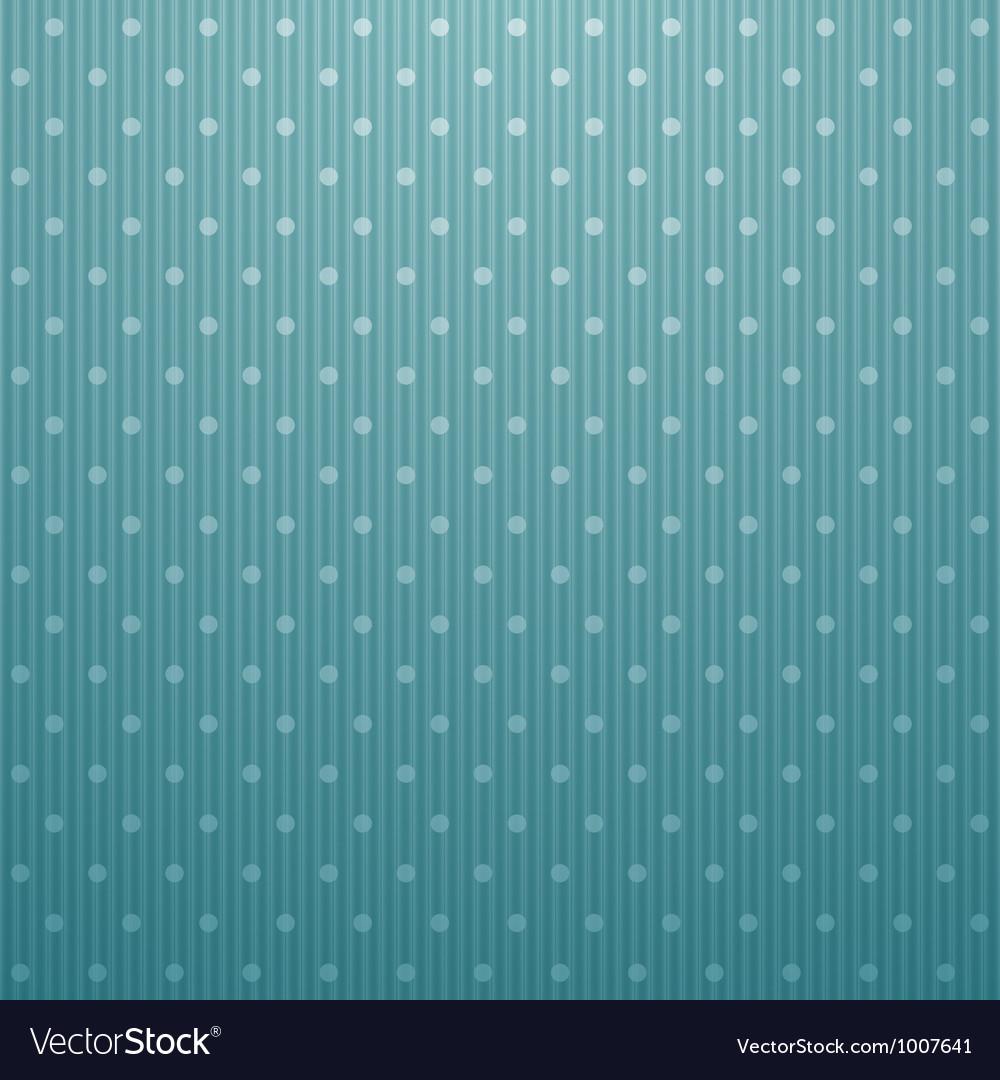 Blue polka dot corrugated cardboard background vector image