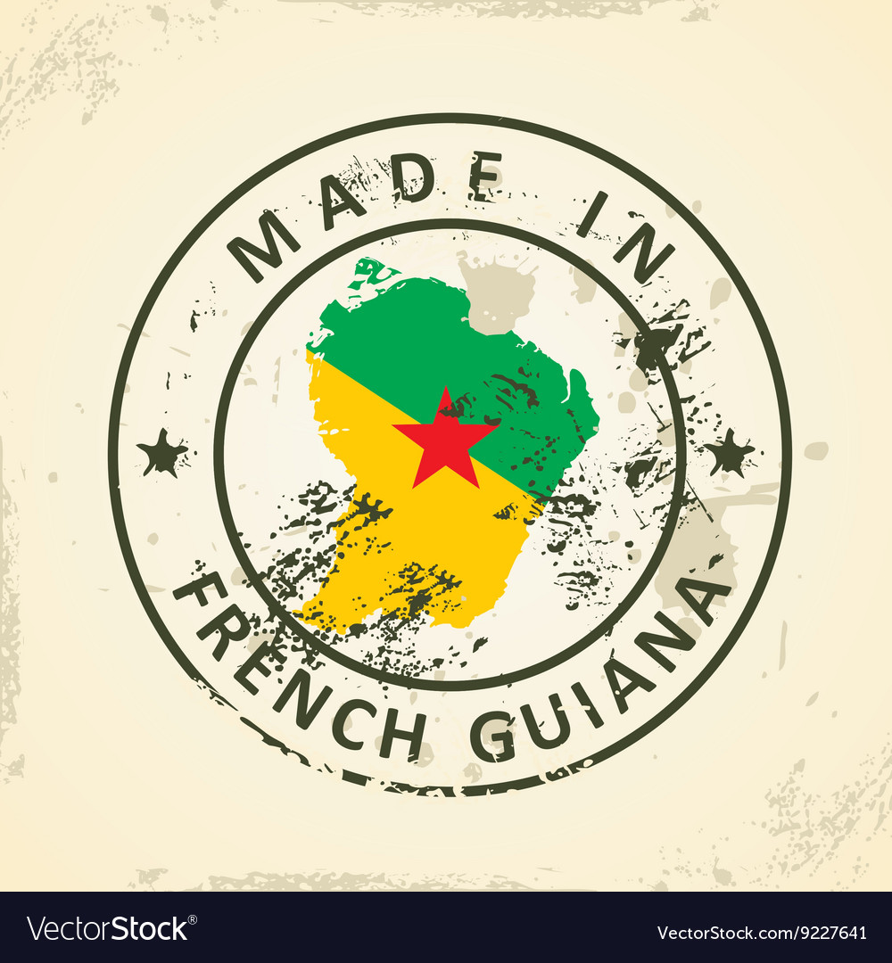 Clipart french guiana map flag create local area network sourcing stamp with map flag of french guiana royalty free vector stamp with map flag of french biocorpaavc Gallery
