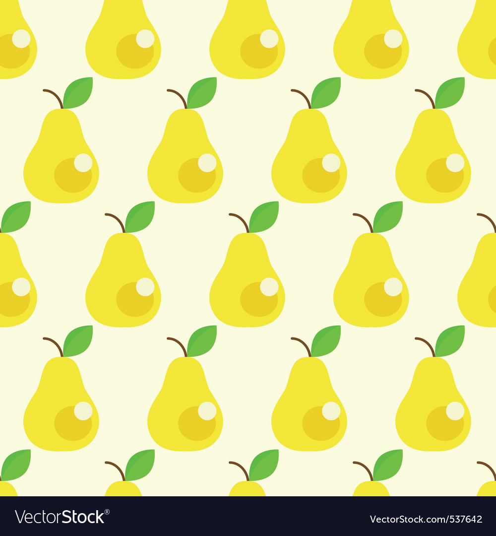 Seamless pears background vector image