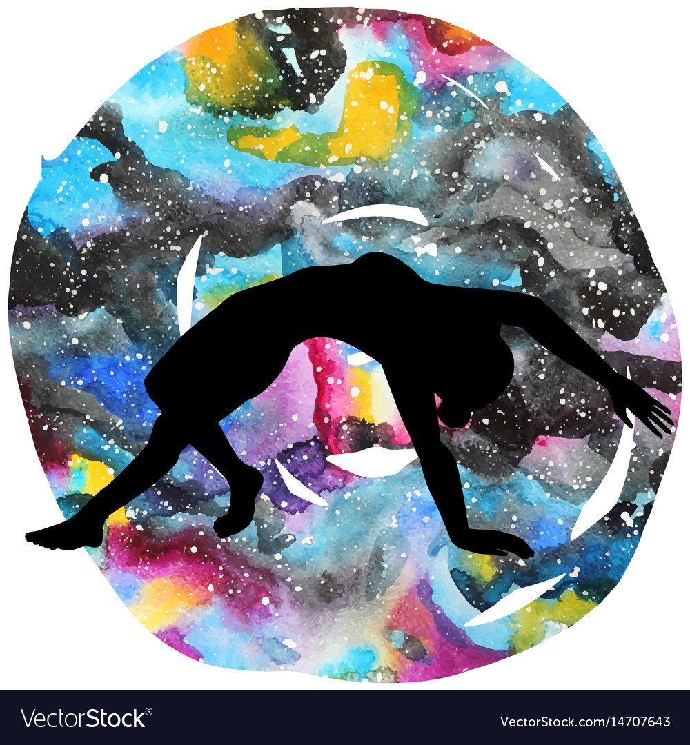 Women silhouette wild thing yoga pose vector image