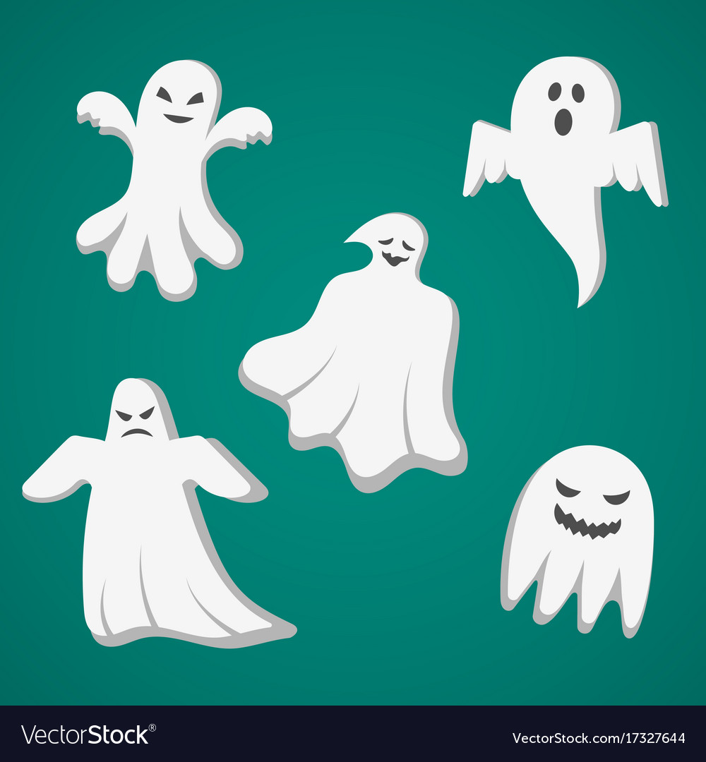 A set of cast for halloween vector image