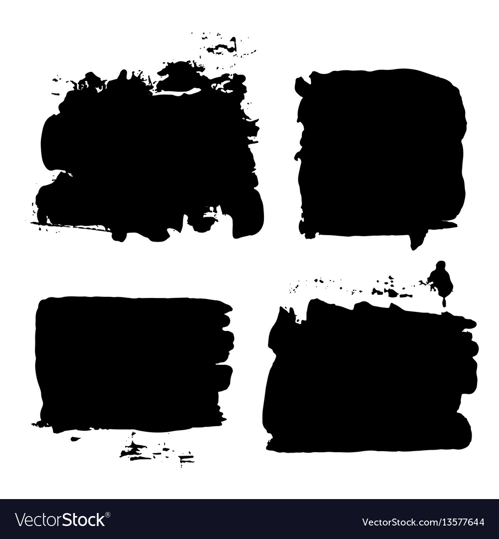 Brush strokes set 014 vector image