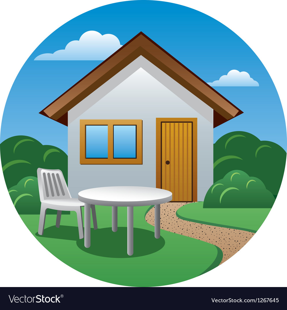 Cottage icon vector image