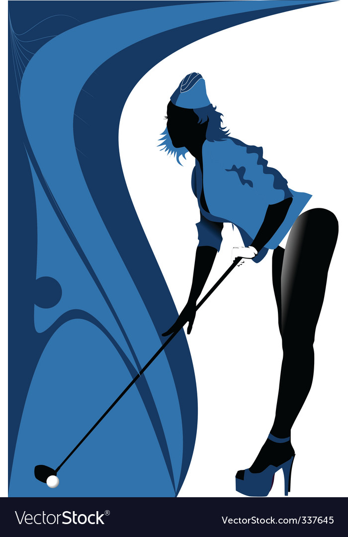 Sexy golf vector image