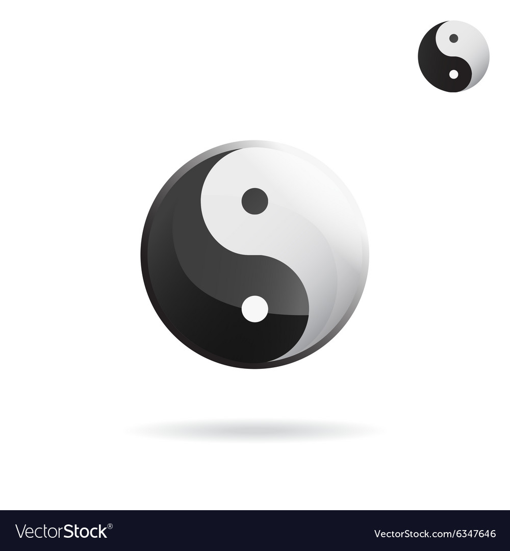 Ying and Yang sign vector image