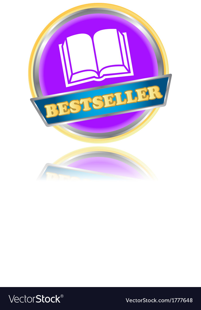 Purple bestseller icon vector image