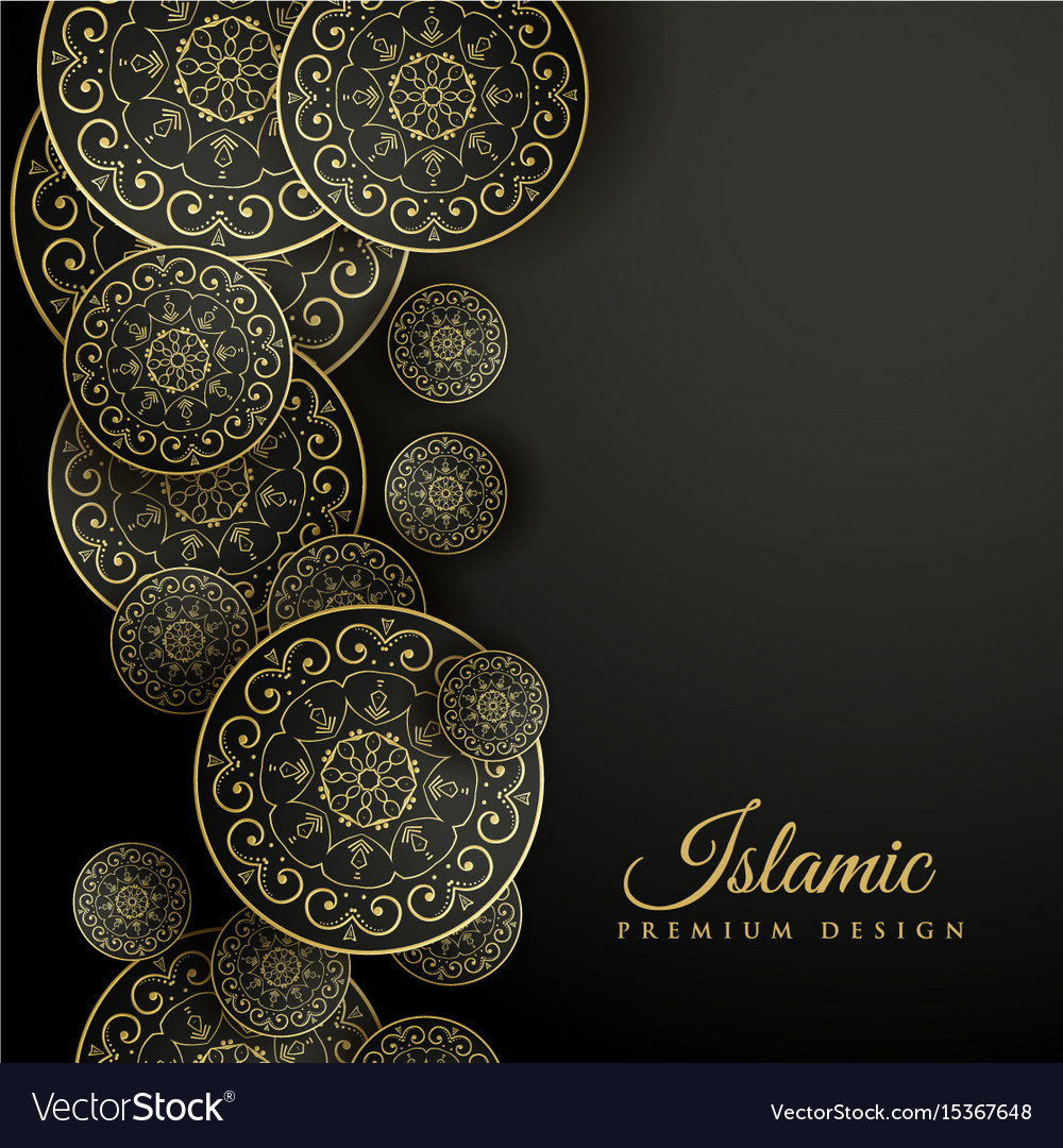 Beautiful Islamic Background With Mandala Vector Image