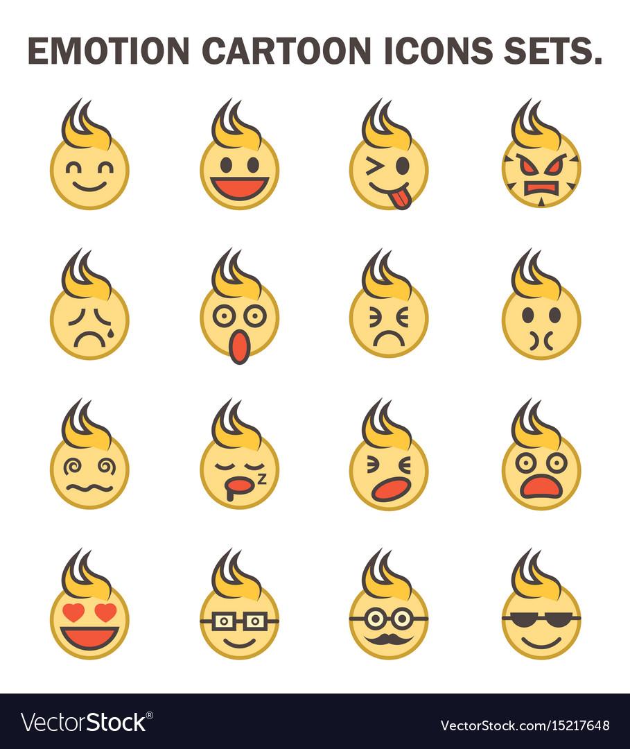 Emotion icon vector image