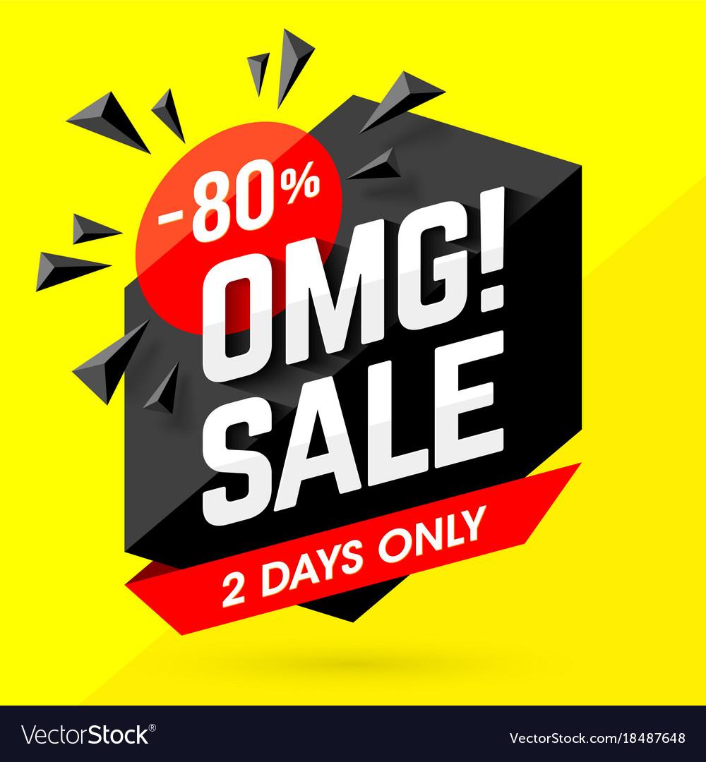 Omg incredible sale banner vector image