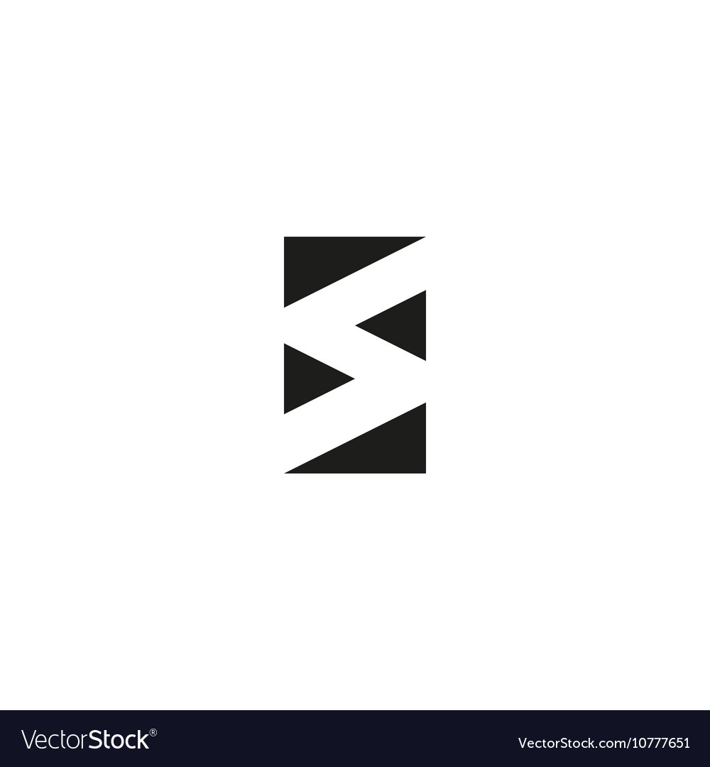 Letter S logo black and white graphic geometric vector image