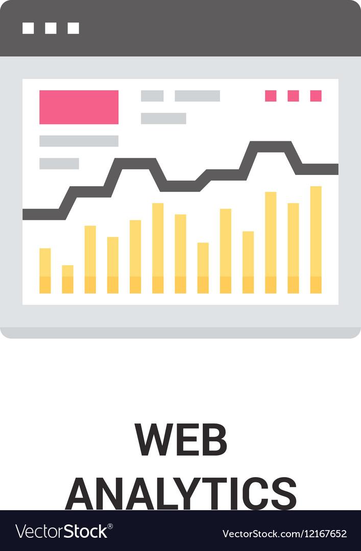 Web analytics icon vector image