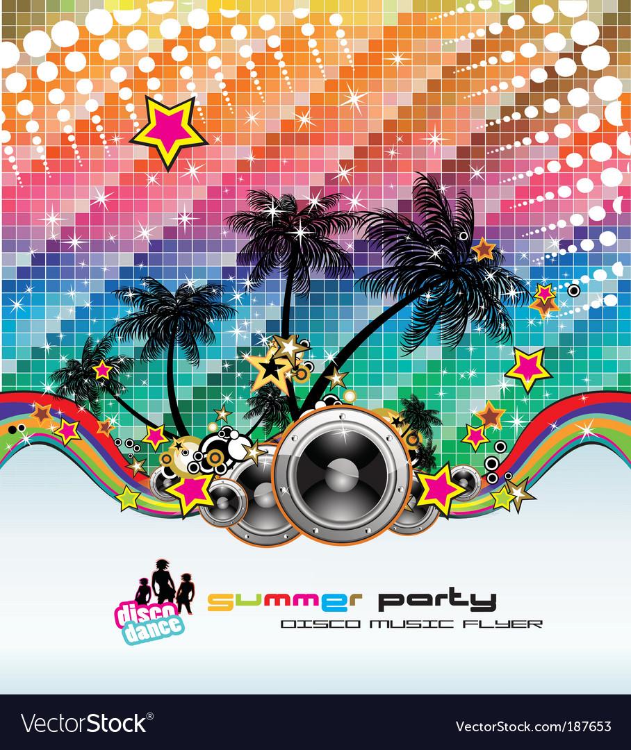 Tropical dance disco flyer vector image
