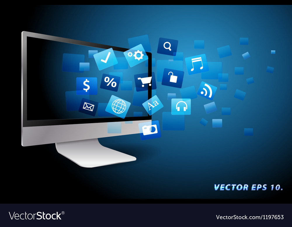 Application computer concept vector image