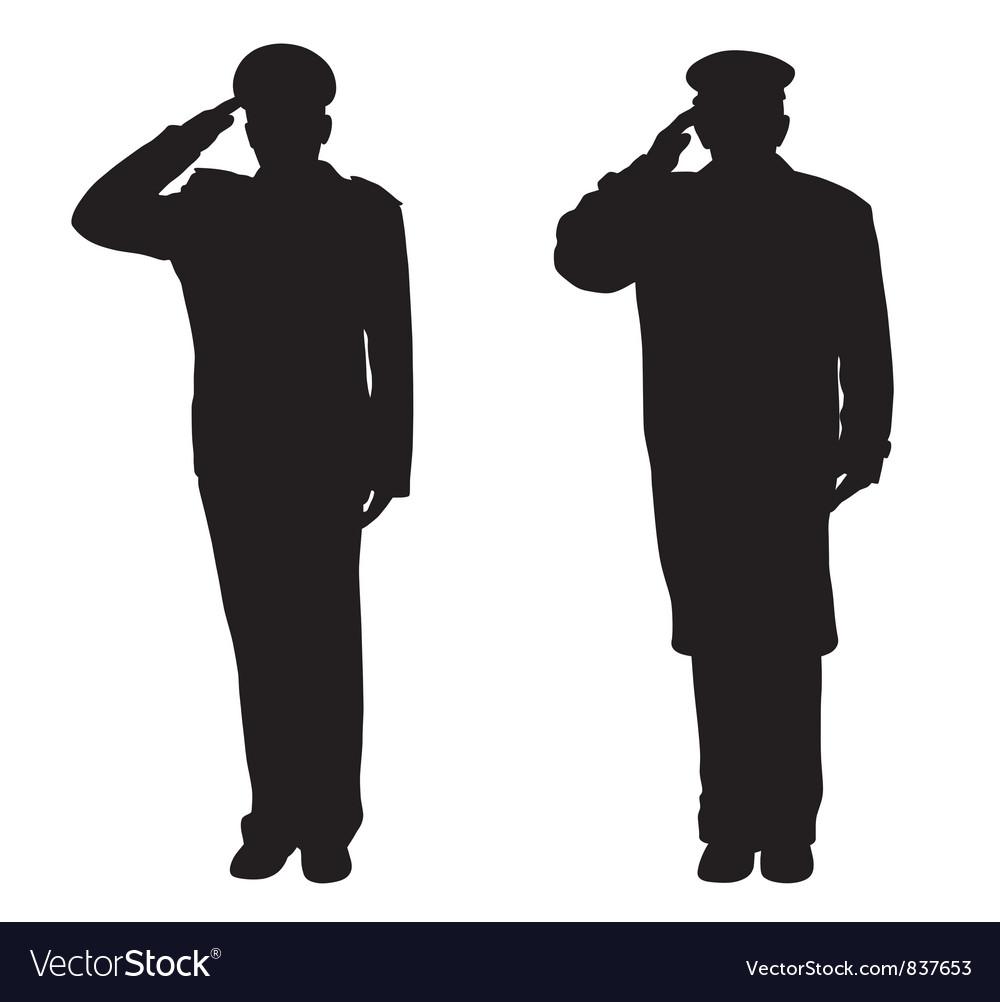 Saluting vector image