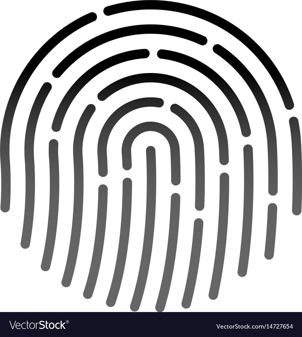Id application icon fingerprint vector image