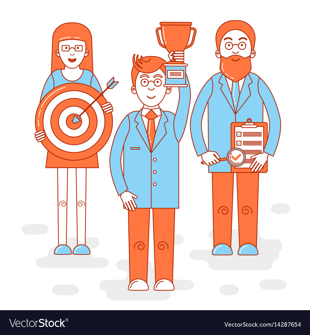 Leadership colorful vector image