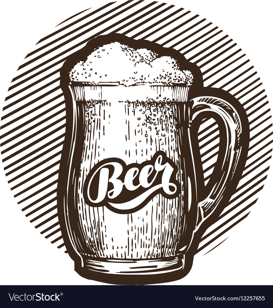 Mug of beer symbol Cold and fresh ale icon vector image