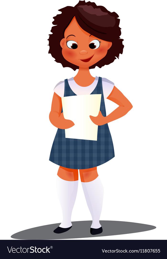 Preschool afro girl vector image