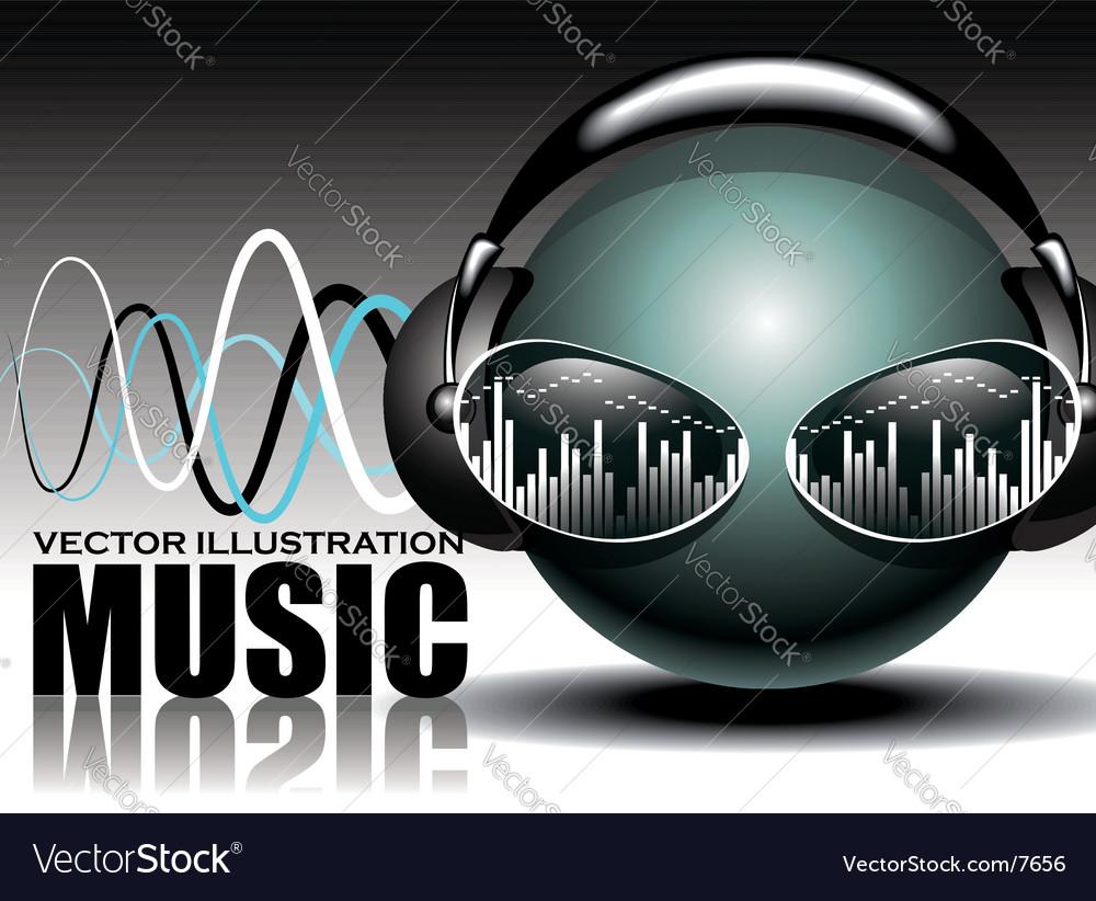 Music illustration vector image