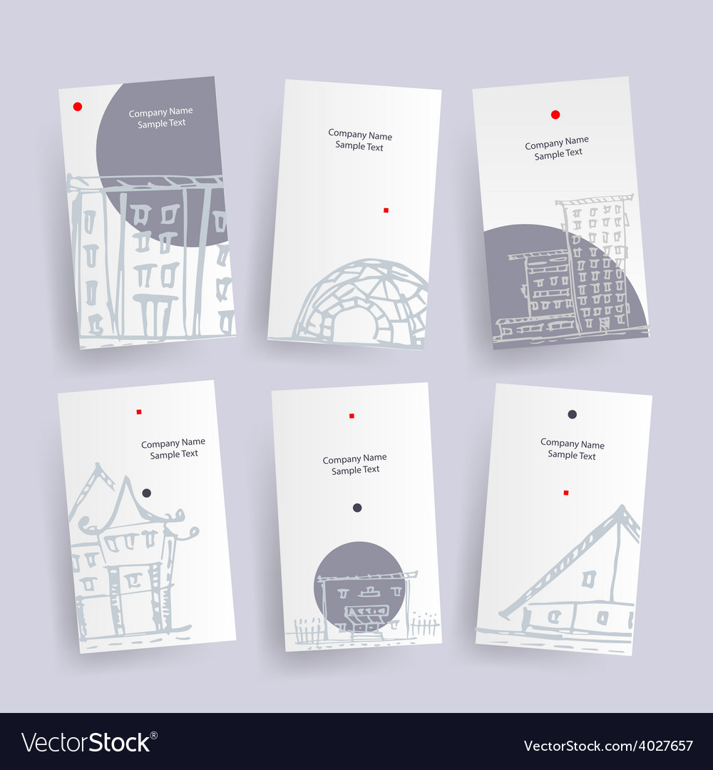 Set of architecture company identify cards vector image reheart Images