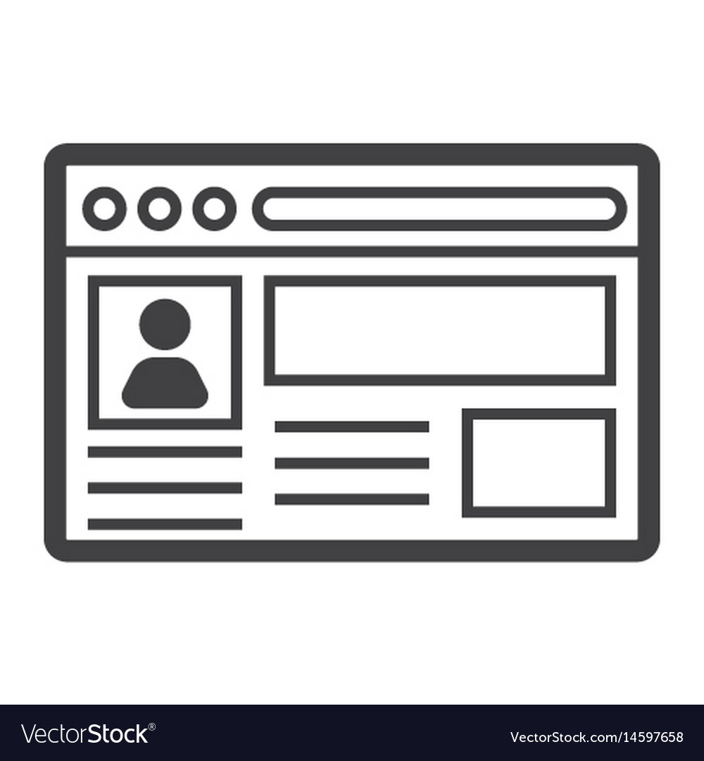Account line icon social media and website vector image