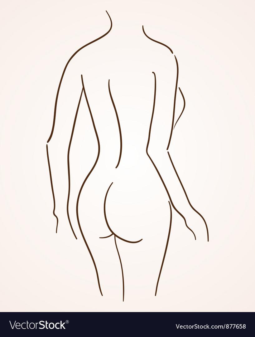 Female Body Silhouette vector image