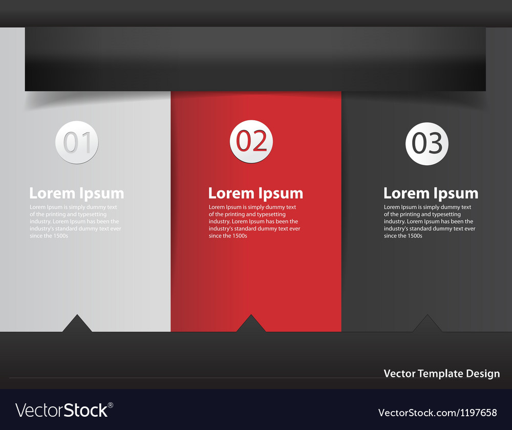 Modern Design template infographics numbered vector image