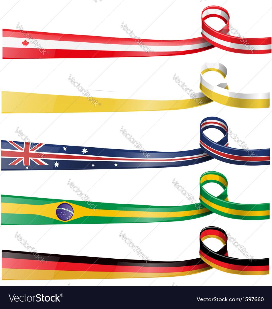 Background flag set vector image