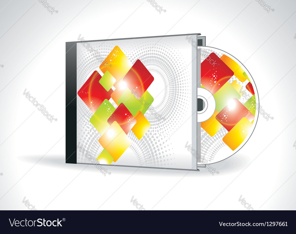 cd cover design with 3d presentation template vector image, Presentation templates