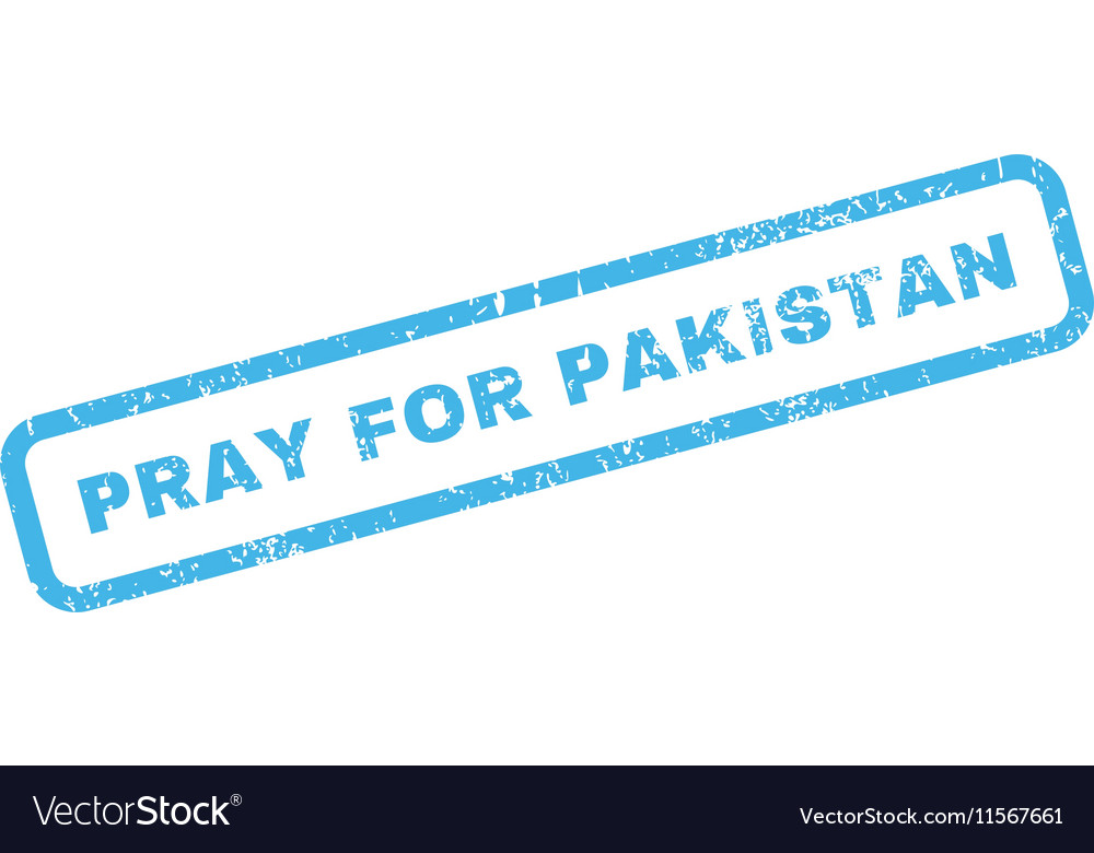 Pray For Pakistan Rubber Stamp vector image