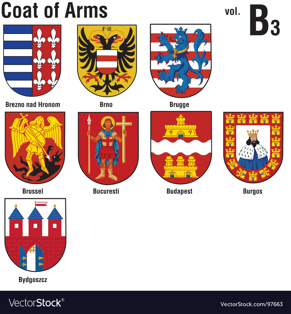 Heraldry coat of arms Royalty Free Vector Image