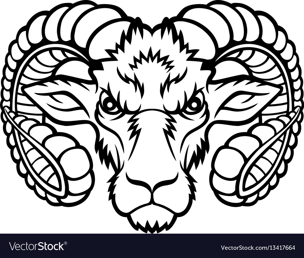 Aries head logo vector image
