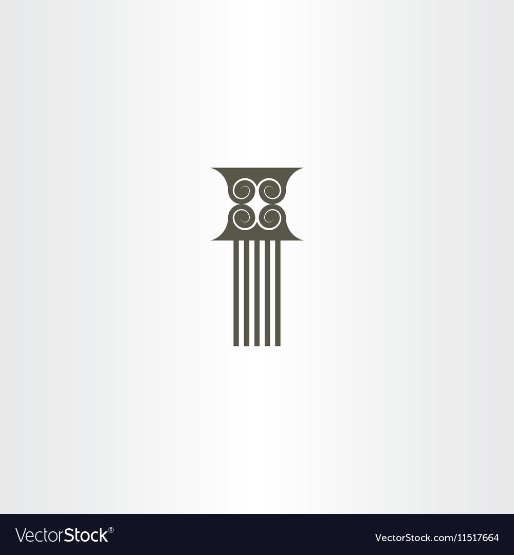 Pillar column icon vector image