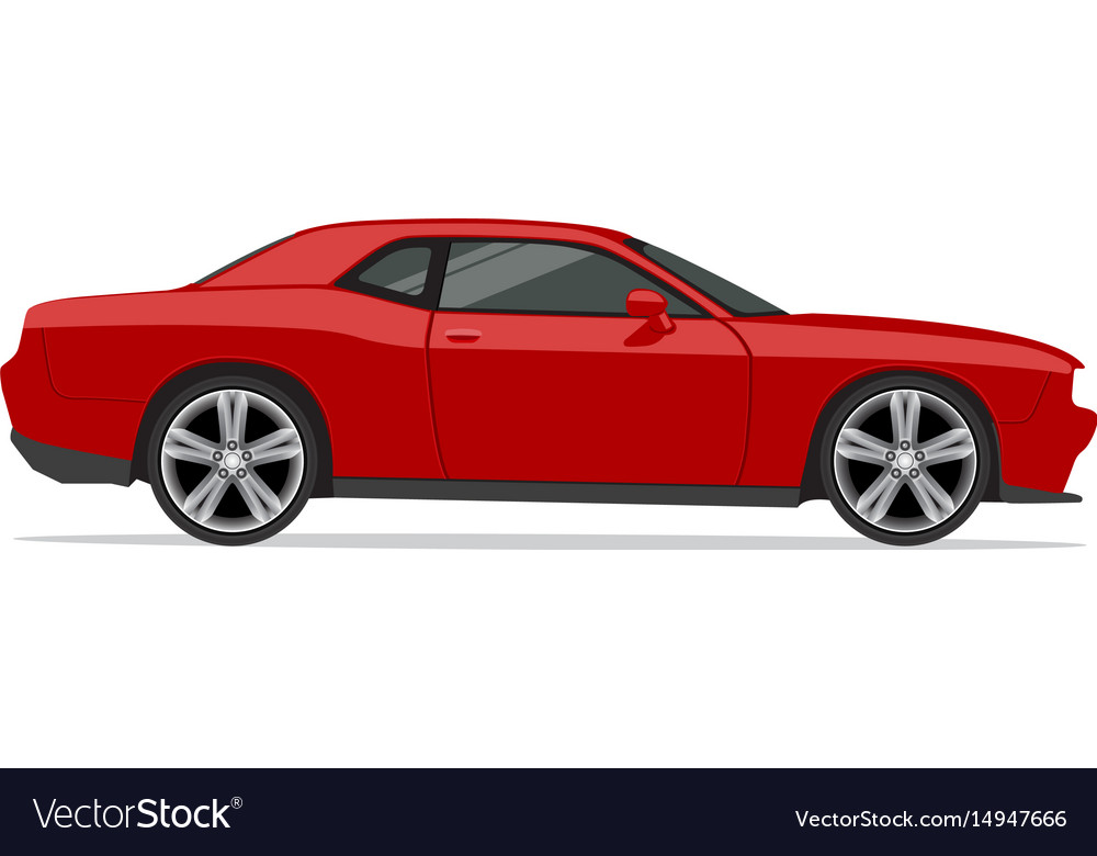 Dodge challenger vector image