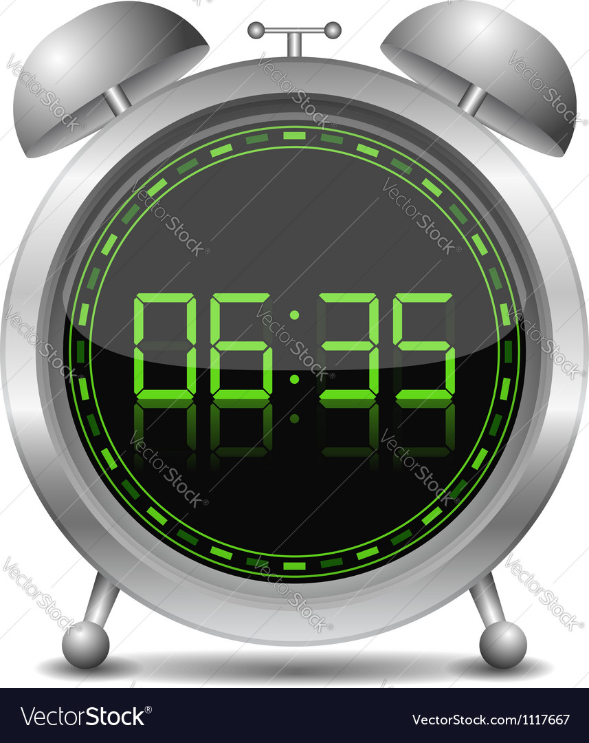 Digital Alarm Clock vector image