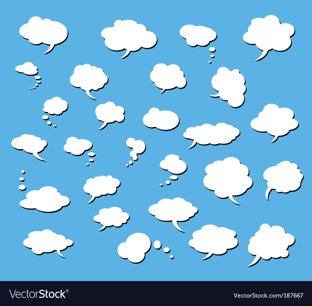 Set of comic clouds vector image