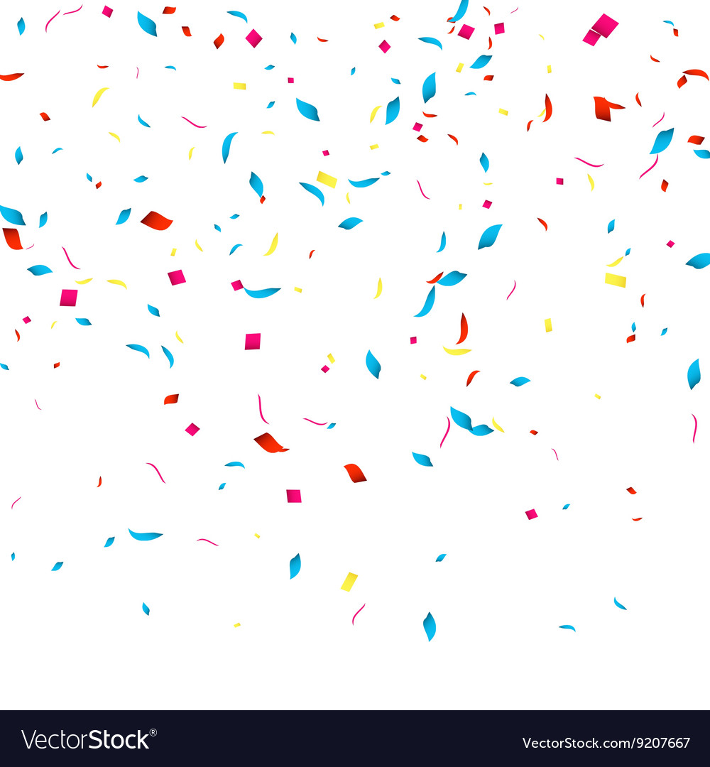 Confetti background for holidays party vector image
