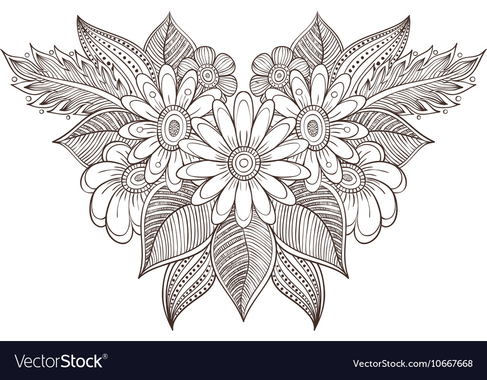 Coloring for adults vector image