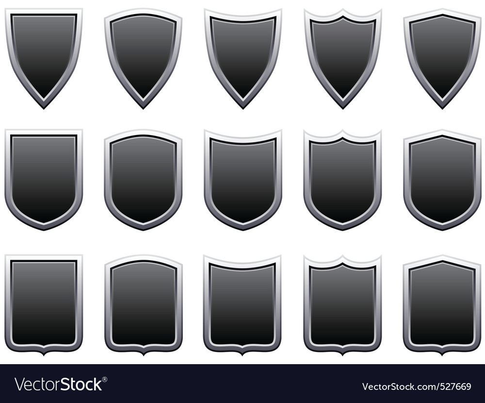 Metal shields vector image