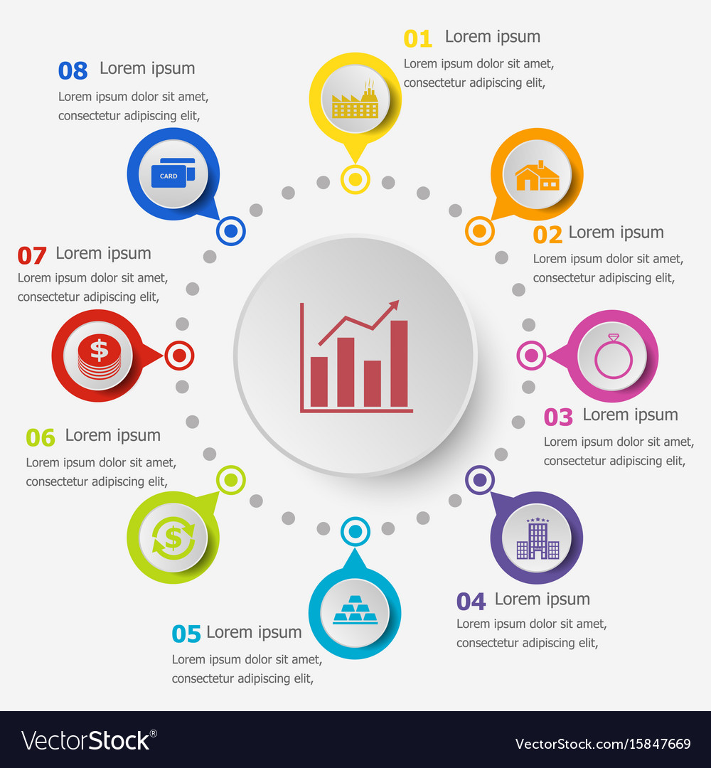 Infographic template with loan icons vector image
