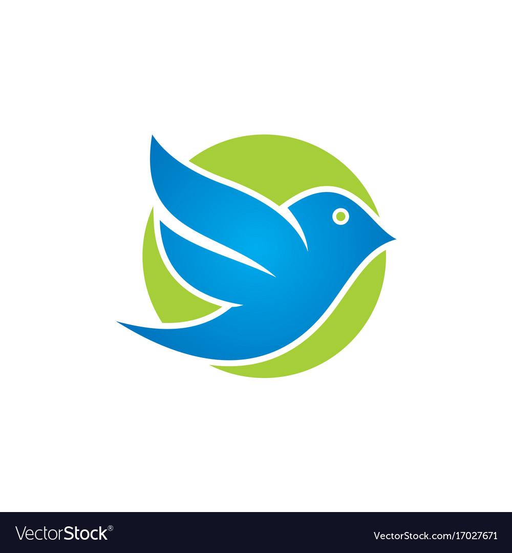 Bird flying icon logo vector image