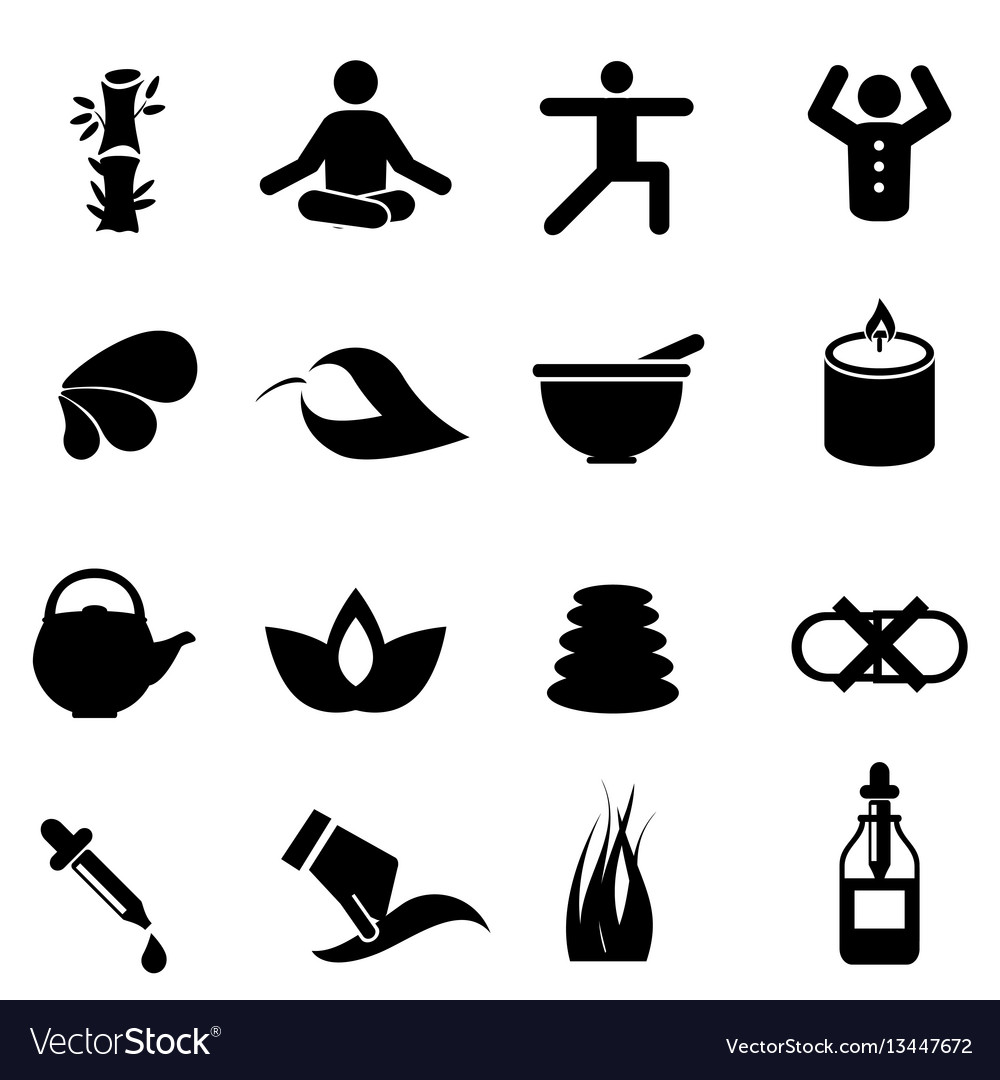 Alternative medicine icons vector image