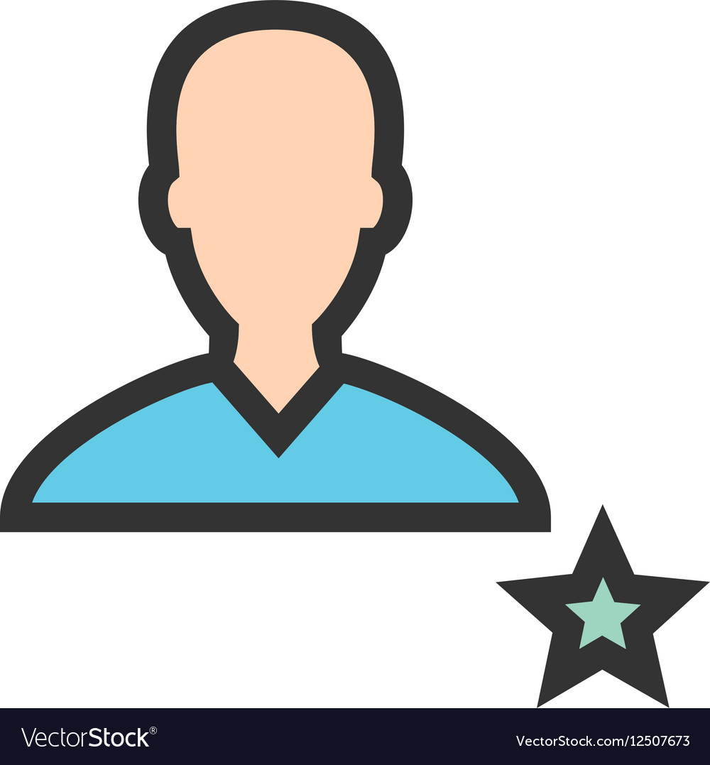 Favorite Male Profile vector image