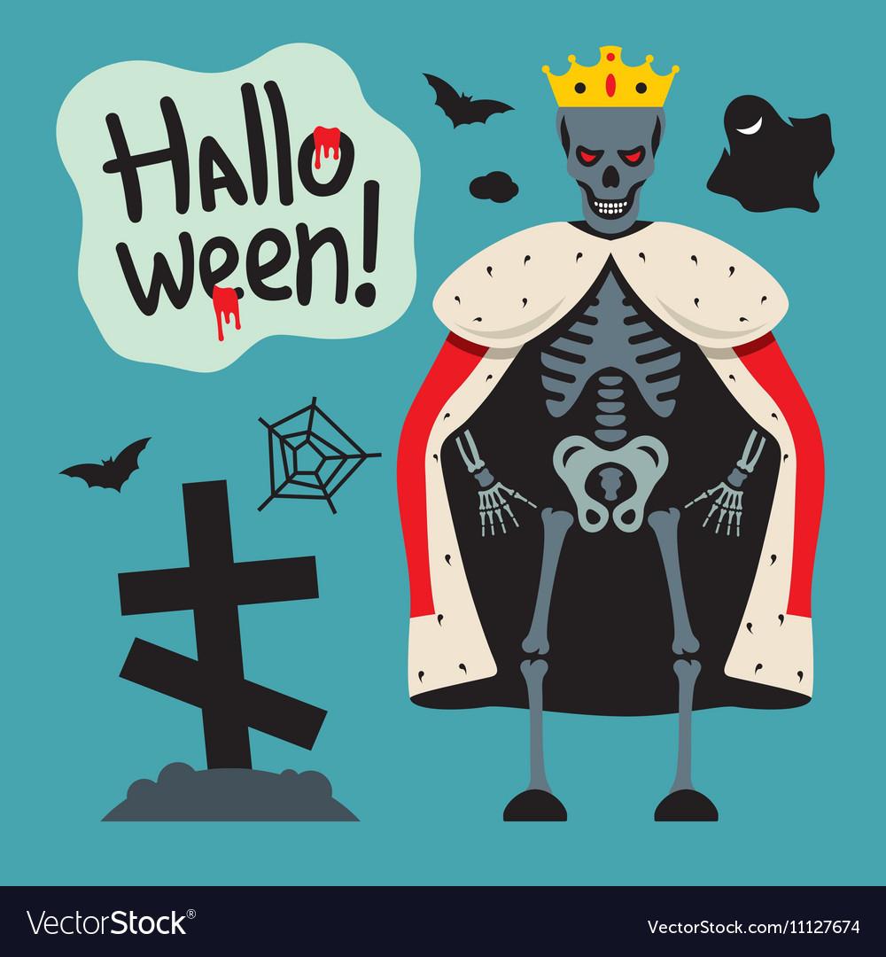 King skeletons Cartoon vector image