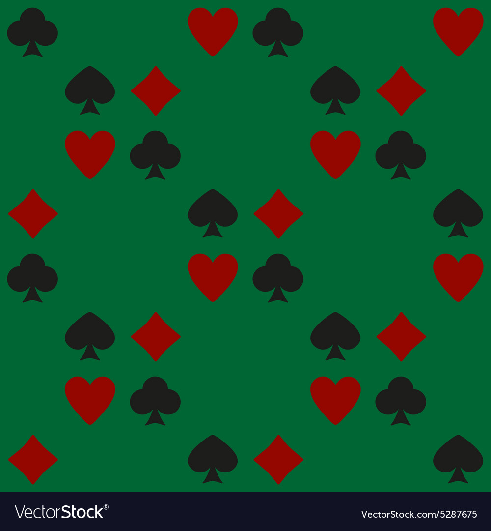 The Playing Card Suit seamless vector image